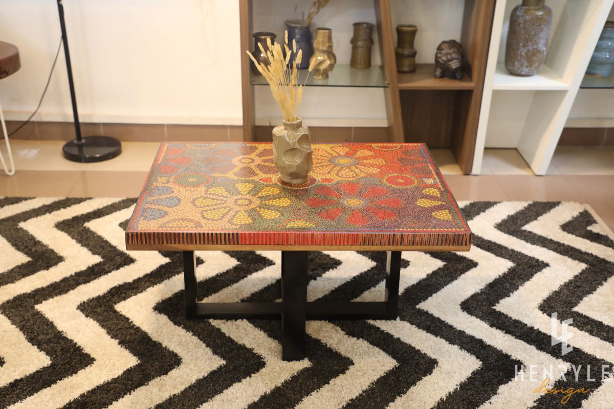 Wild Cosmos Flower Colored-Pencil Coffee Table 8