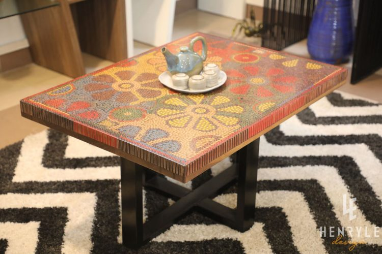 Wild Cosmos Flower Colored-Pencil Coffee Table 9